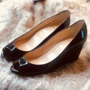 Christian Louboutin Patent Leather Wedge